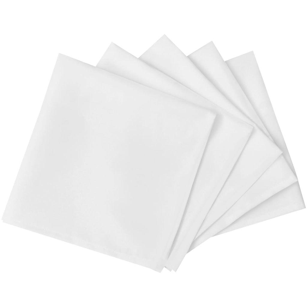 50 Șervete de bucătărie 50 x 50 cm, alb