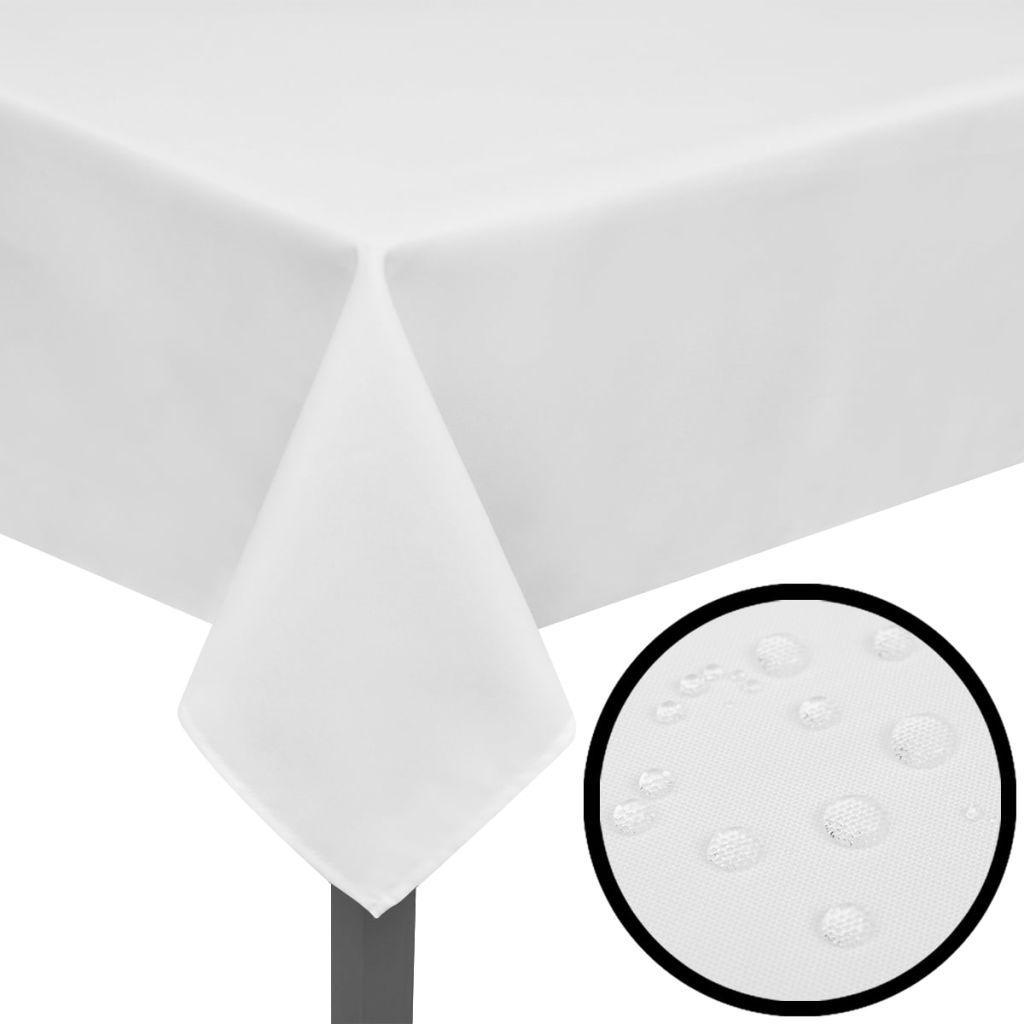 5 fețe de masă 250 x 130 cm, alb