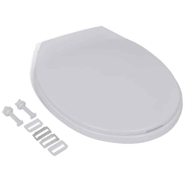 vidaXL Capac WC cu închidere silențioasă, alb, oval