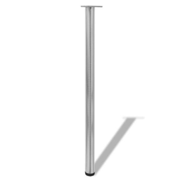 Picioare de masă reglabile pe înălțime, nichel șlefuit, 4 buc, 1100 mm