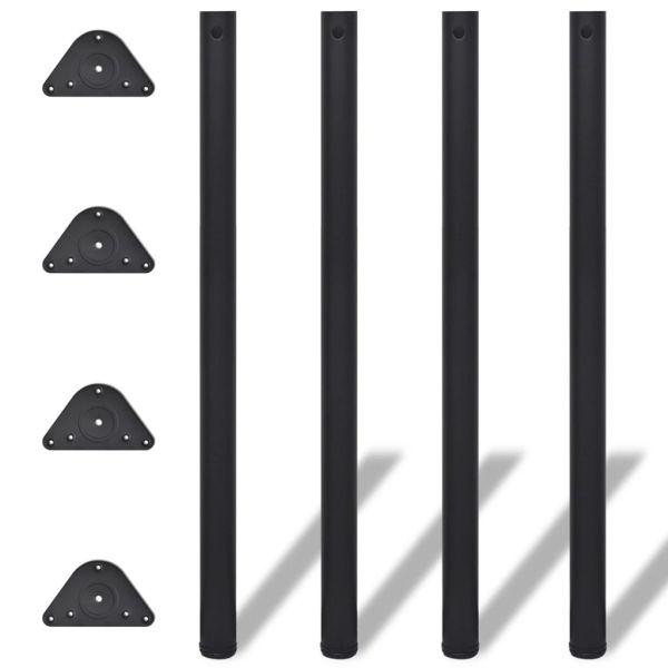 Picioare de masă reglabile pe înălțime 4 buc., negru, 1100 m
