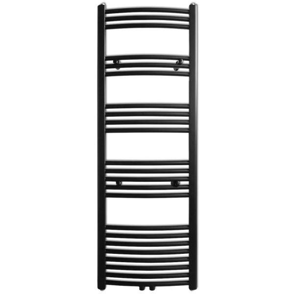 Radiator port-prosop încălzire baie, curbat, 500 x 1424 mm, negru