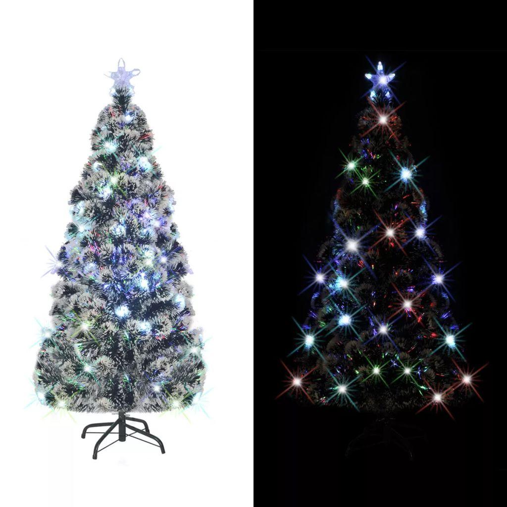 vidaXL Brad de Crăciun artificial cu suport / LED, 180 cm, 220 ramuri