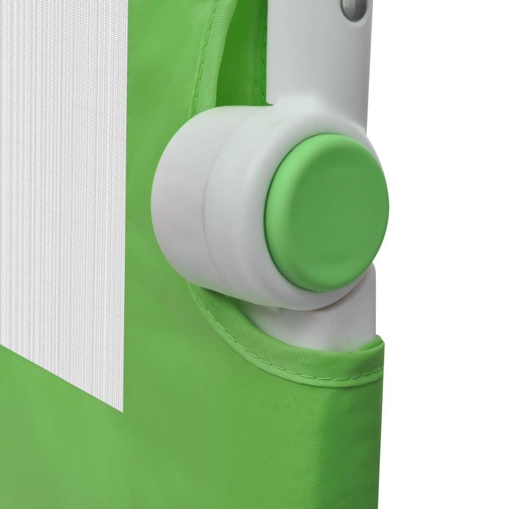 vidaXL Balustradă de siguranță pentru pat de copil, verde, 150×42 cm