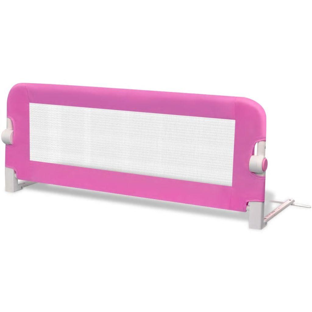 Balustradă de siguranță pentru pat de copil, roz, 102×42 cm