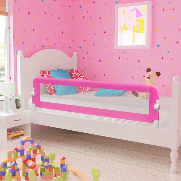 vidaXL Balustradă de siguranță pentru pat de copil, roz, 150×42 cm