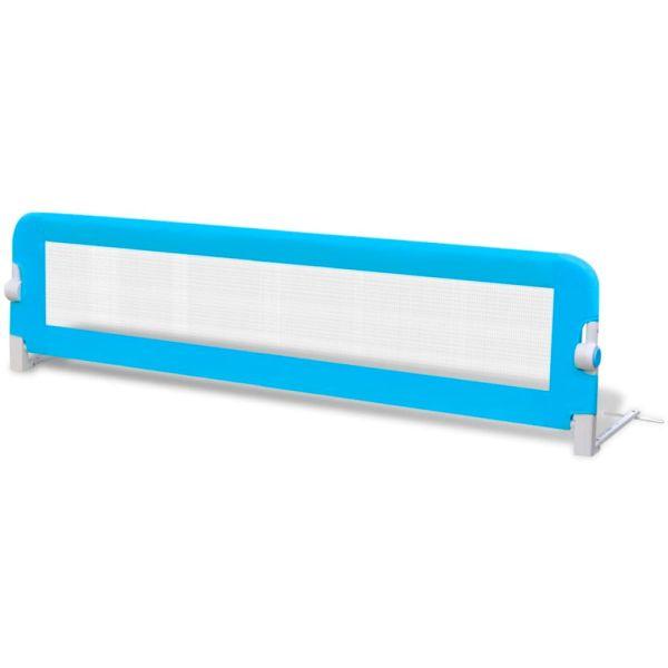 Balustradă de siguranță pentru pat copil, albastru, 150×42 cm