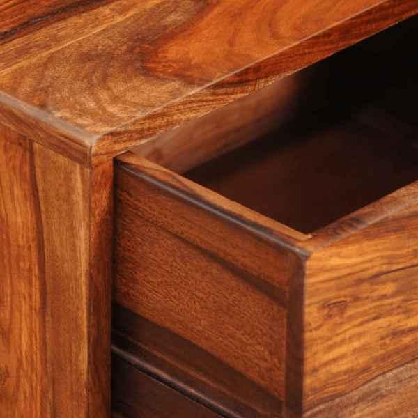 Noptieră cu 1 sertar, 55 cm, lemn masiv de sheesham