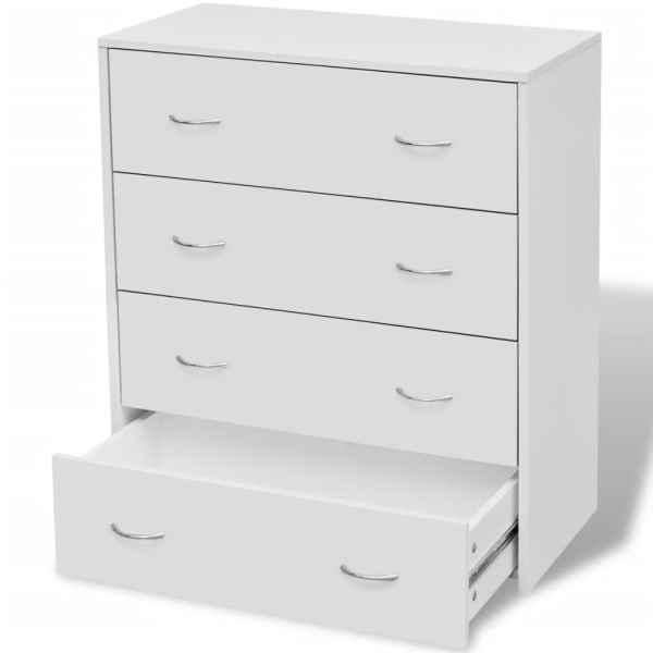 vidaXL Bufet cu 4 sertare, 60 x 30,5 x 71 cm, alb