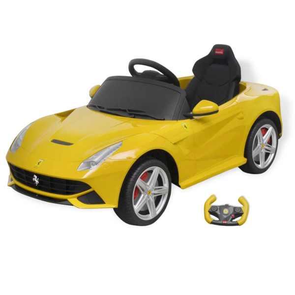 """vidaXL Mașinuță electrică """"Ferrari F12"""" galbenă 6 V cu telecomandă"""