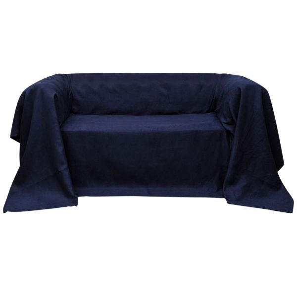 Husă din velur micro-fibră pentru canapea, 270 x 350 cm, bleumarin