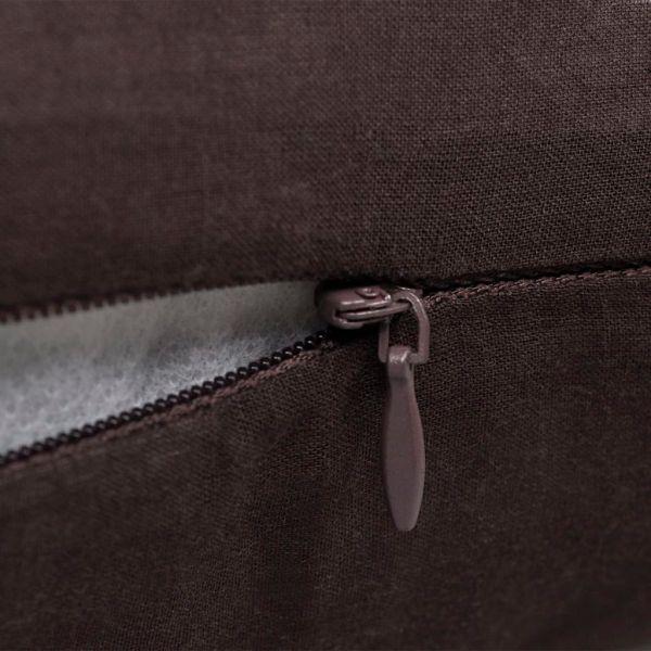 Huse de pernă din bumbac, 40 x 40 cm, maro, 4 buc.