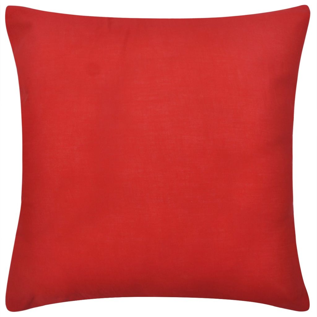 Huse de pernă din bumbac, 50 x 50 cm, roșu, 4 buc.