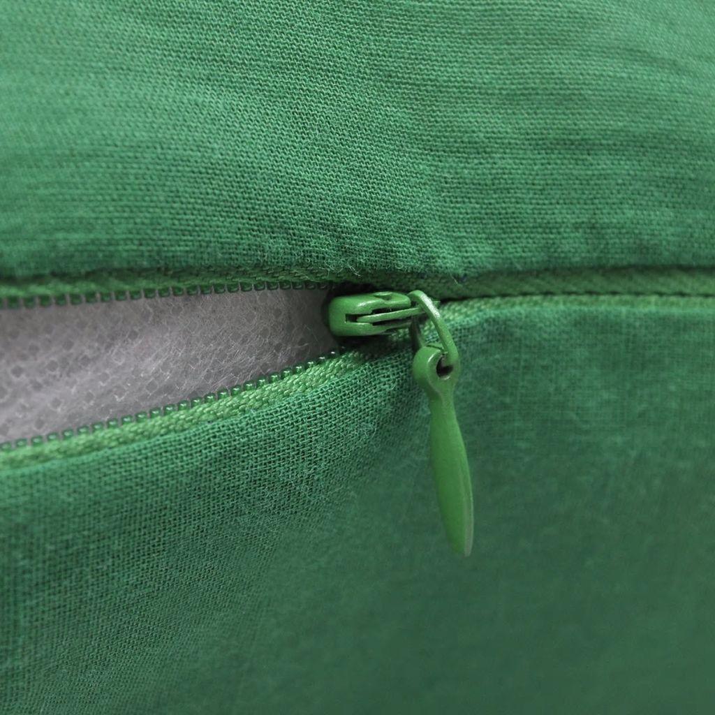 Huse de pernă din bumbac, 40 x 40 cm, verde, 4 buc.