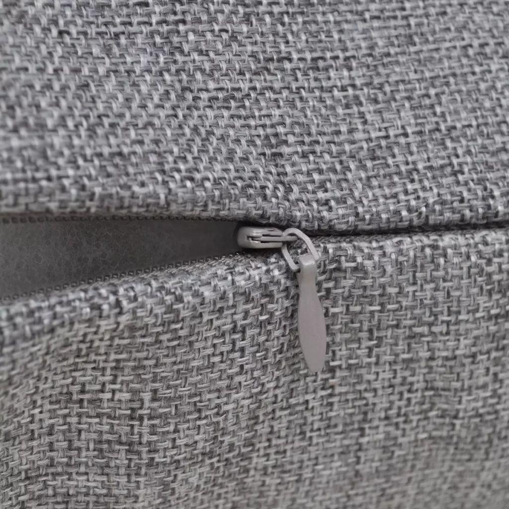 Huse de pernă cu aspect de așternut 50 x 50 cm, Antracit, 4 buc.