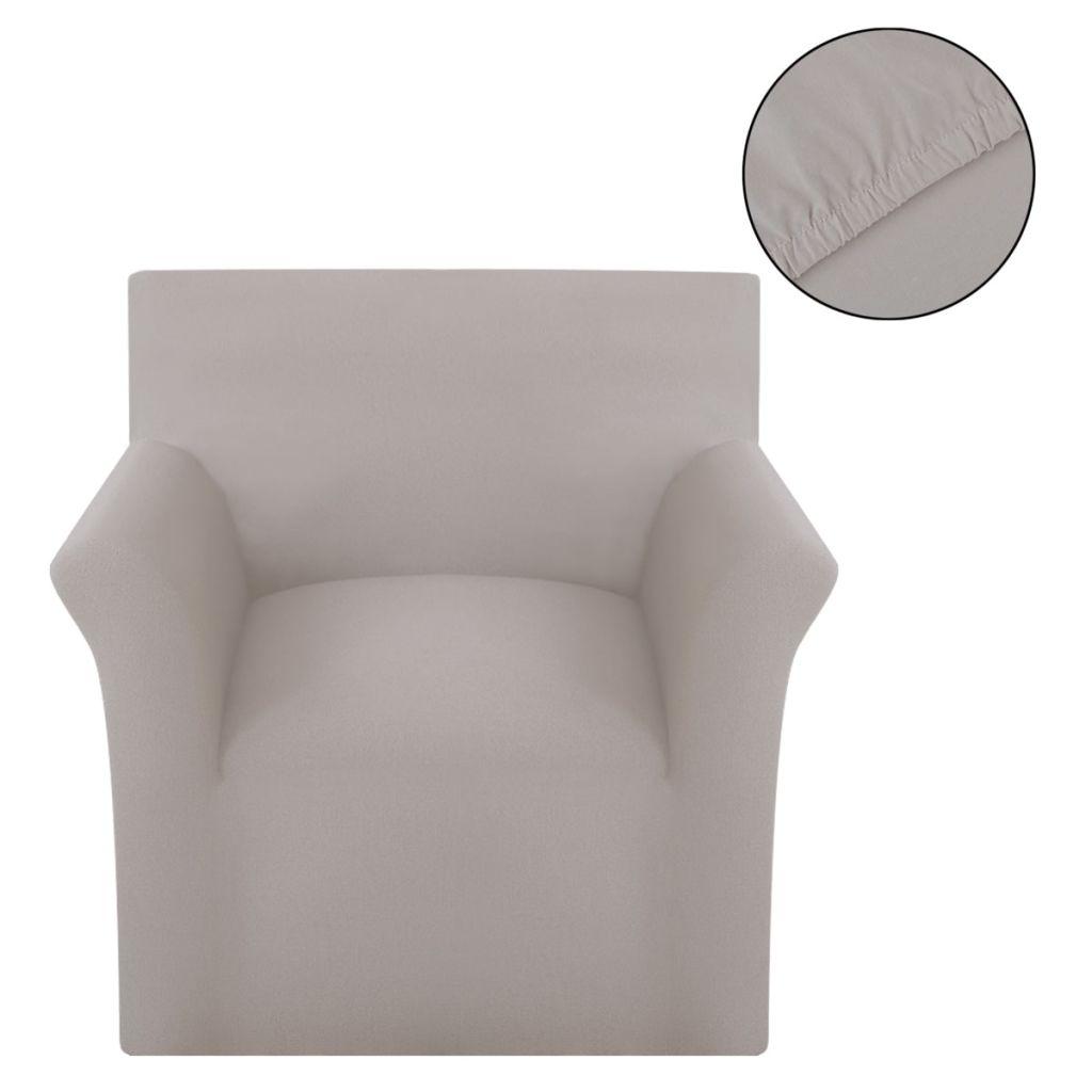 vidaXL Husă elastică din bumbac Jersey pentru canapea, Bej