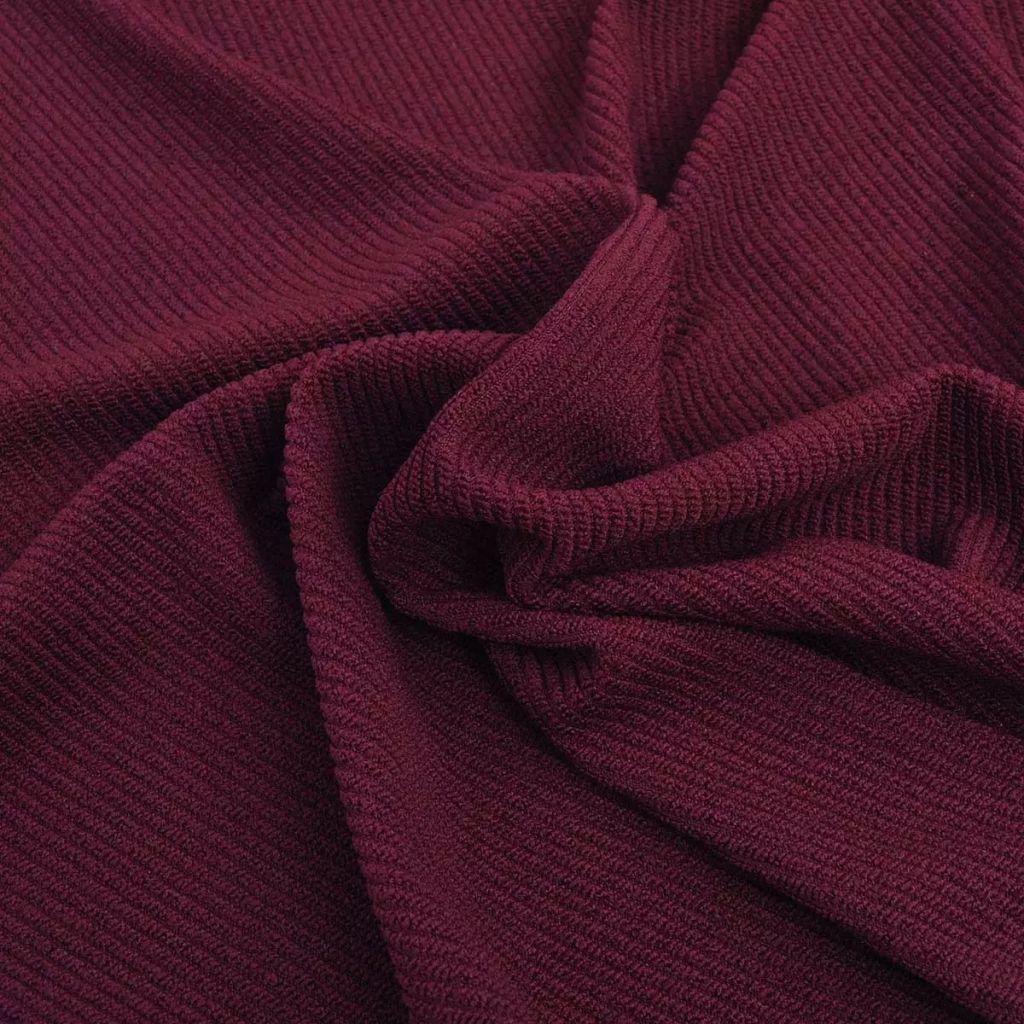 vidaXL Husă elastică canapea din poliester textură striată, burgundy