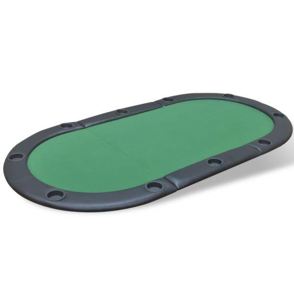 vidaXL Blat de masă de poker pentru 10 jucători, pliabil, verde