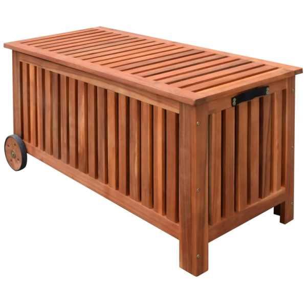 vidaXL Ladă de depozitare de grădină, 118 x 52 x 58 cm, lemn