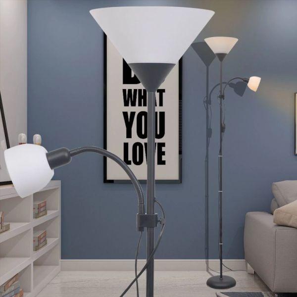 vidaXL Lampă de podea, negru