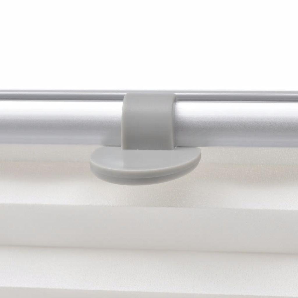 Jaluzele plisate C02, alb