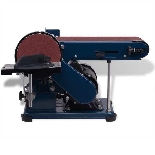vidaXL Mașină de șlefuit cu bandă și disc, 375 W
