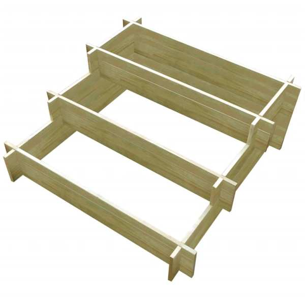 vidaXL Jardinieră cu 3 niveluri, 90 x 90 x 35 cm, lemn tratat