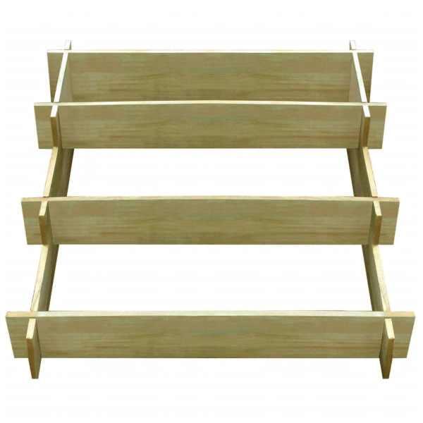 Jardinieră cu 3 niveluri, 90 x 90 x 35 cm, lemn tratat