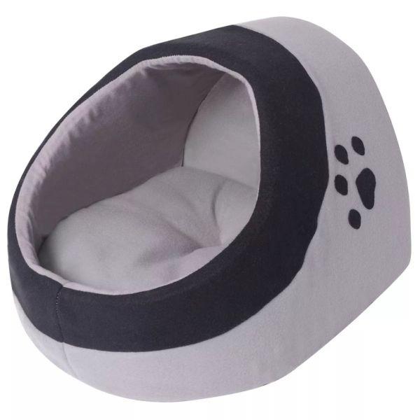 vidaXL Pătuț pentru pisici L gri și negru