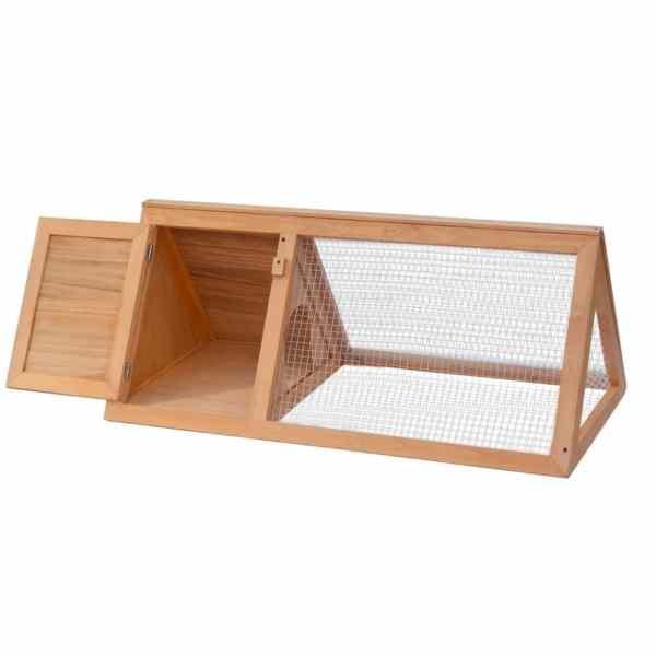 vidaXL Cușcă pentru iepuri și alte animale, lemn