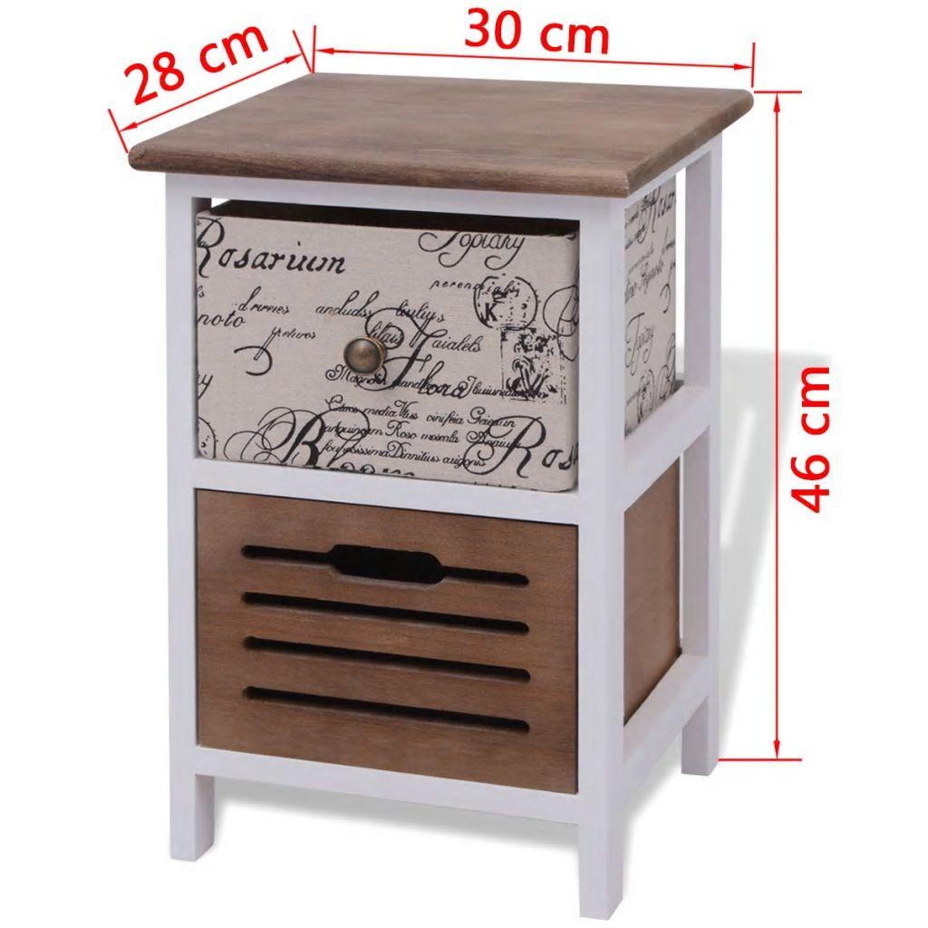 vidaXL Noptieră din lemn