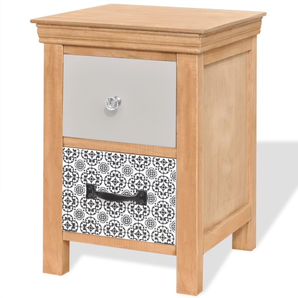 Noptieră din lemn masiv 34 x 34 x 46 cm