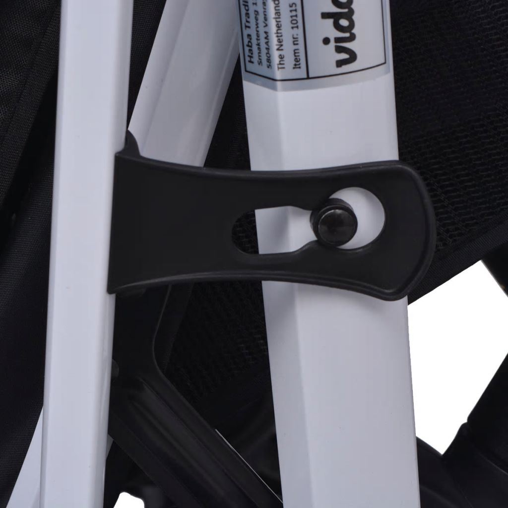 vidaXL Cărucior pentru copii 3-în-1, albastru și negru, aluminiu