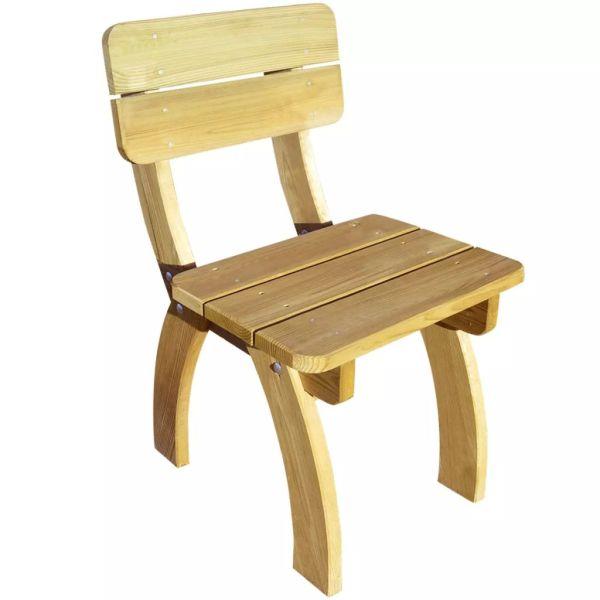 vidaXL Scaun de grădină din lemn de pin tratat