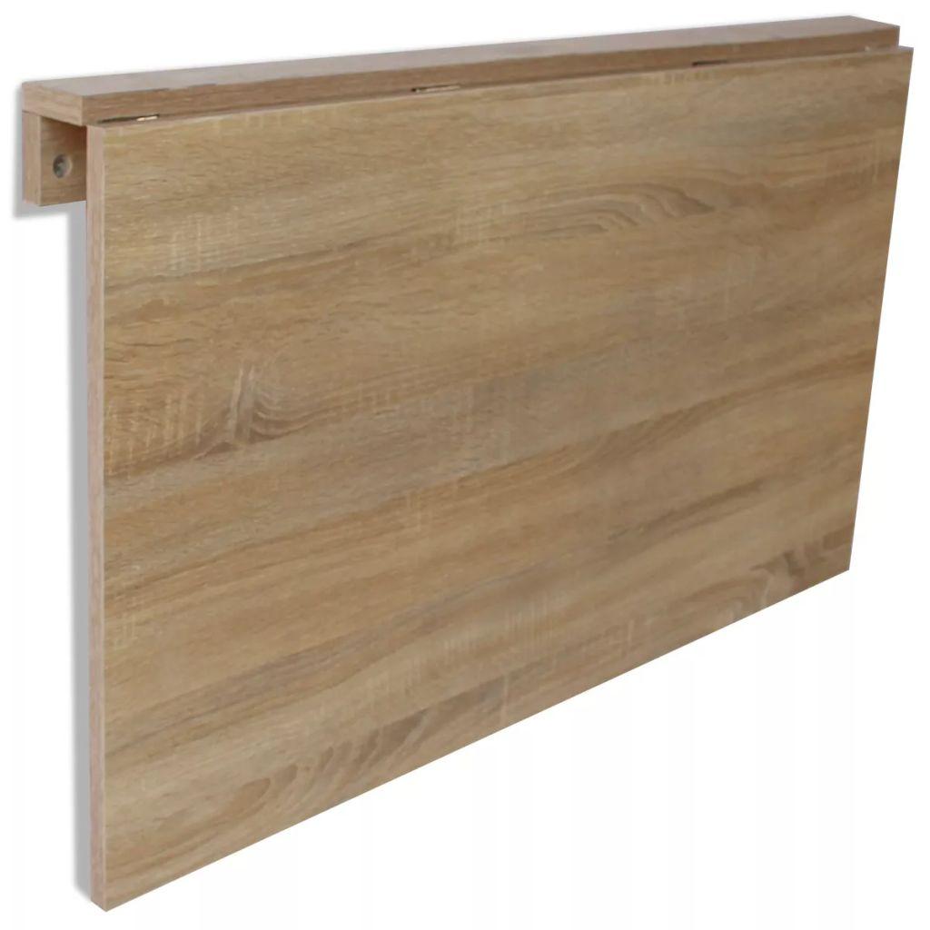 vidaXL Masă de perete pliabilă, culoare stejar, 100 x 60 cm