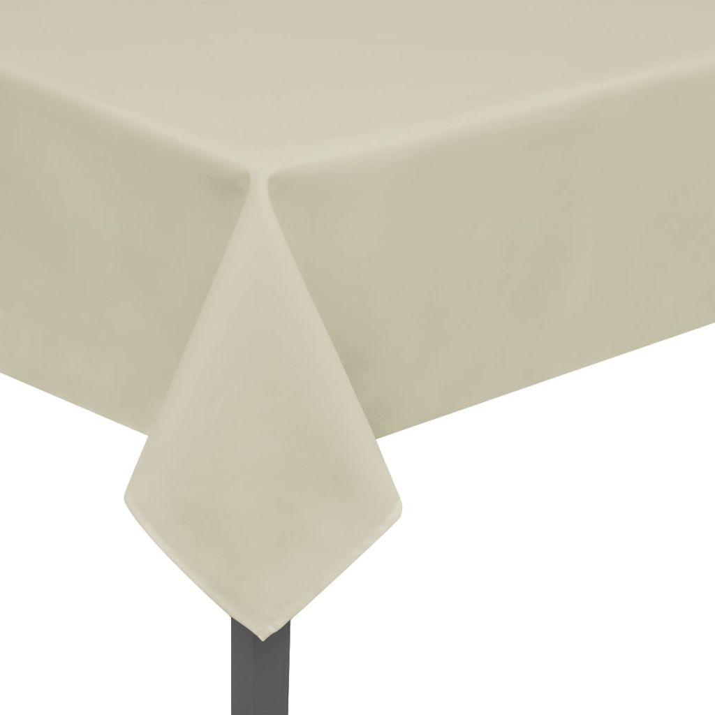 Fețe de masă, 170 x 130 cm, crem, 5 buc.