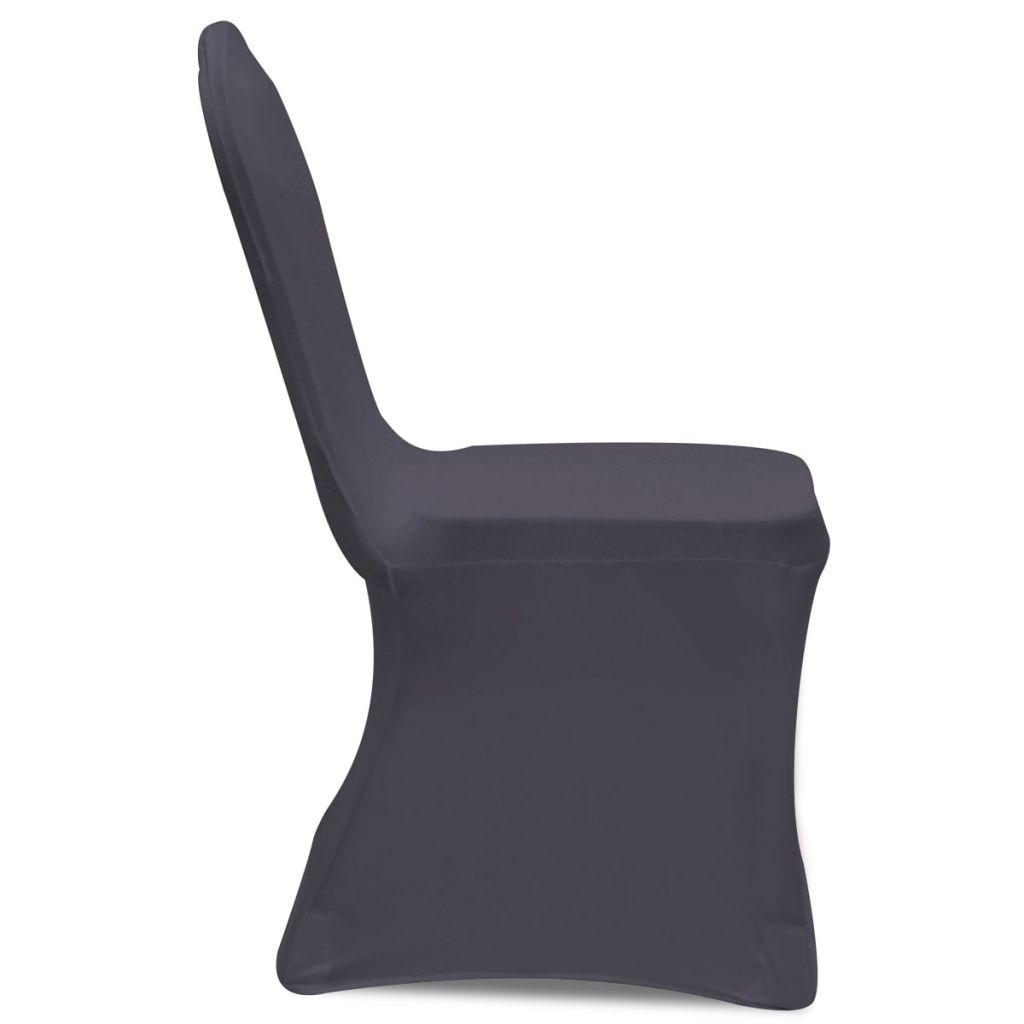 Husă elastică pentru scaun, Antracit, 6 buc.