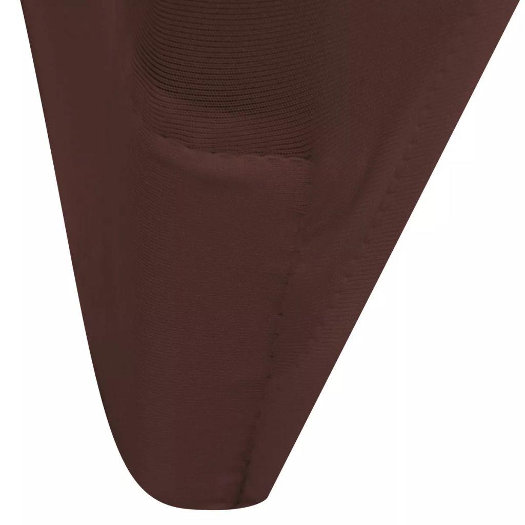 Husă elastică pentru scaun, maro, 6 buc.