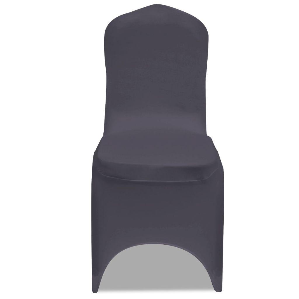 Husă elastică pentru scaun, antracit, 4 buc.
