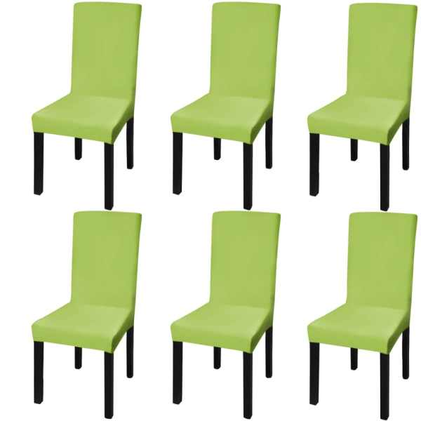 vidaXL Husă elastică pentru scaun, verde, 6 buc.