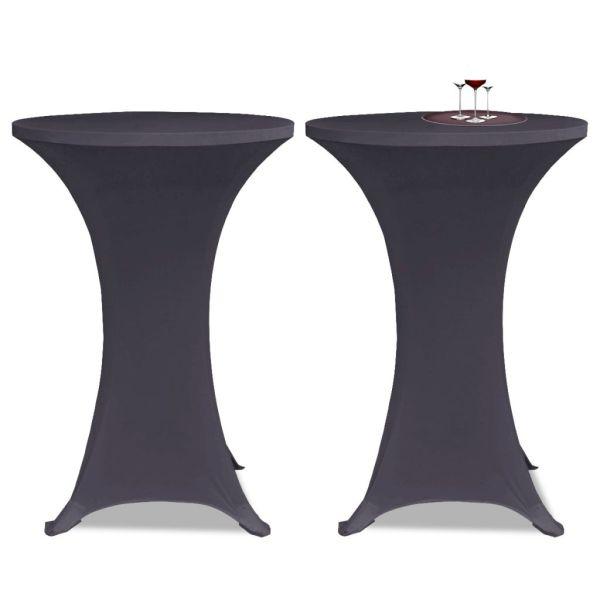 vidaXL Husă elastică pentru masă, 70 cm, antracit, 2 buc.