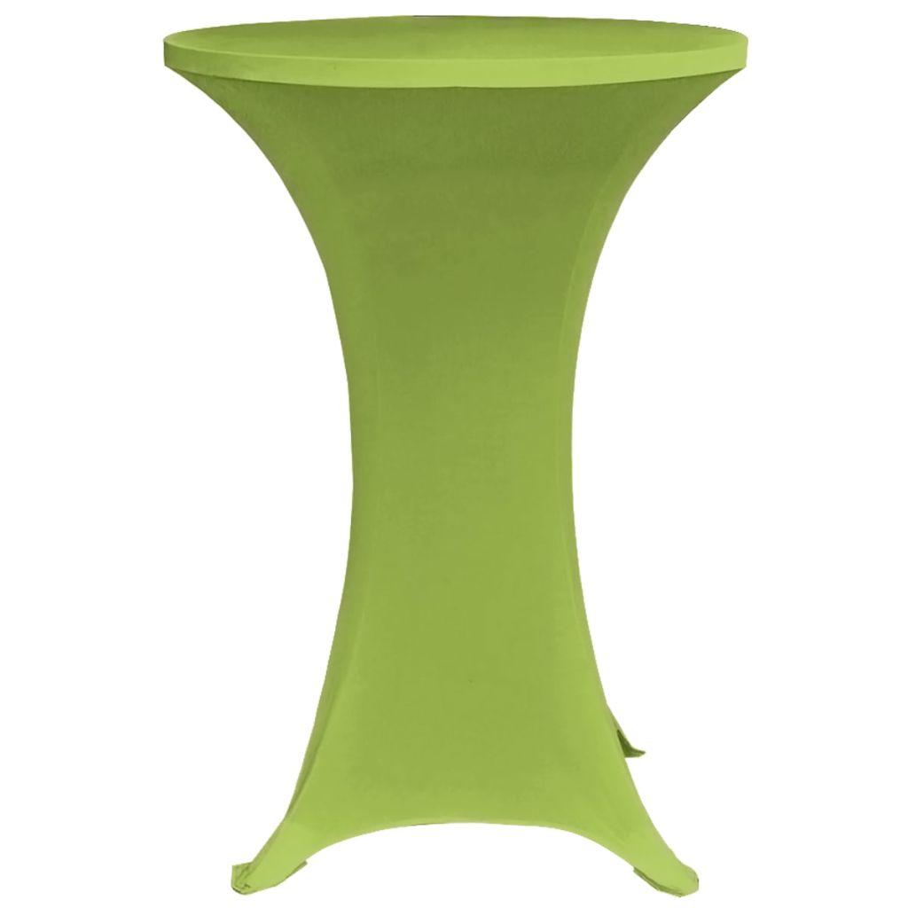 Husă elastică pentru masă, 60 cm, verde, 2 buc.