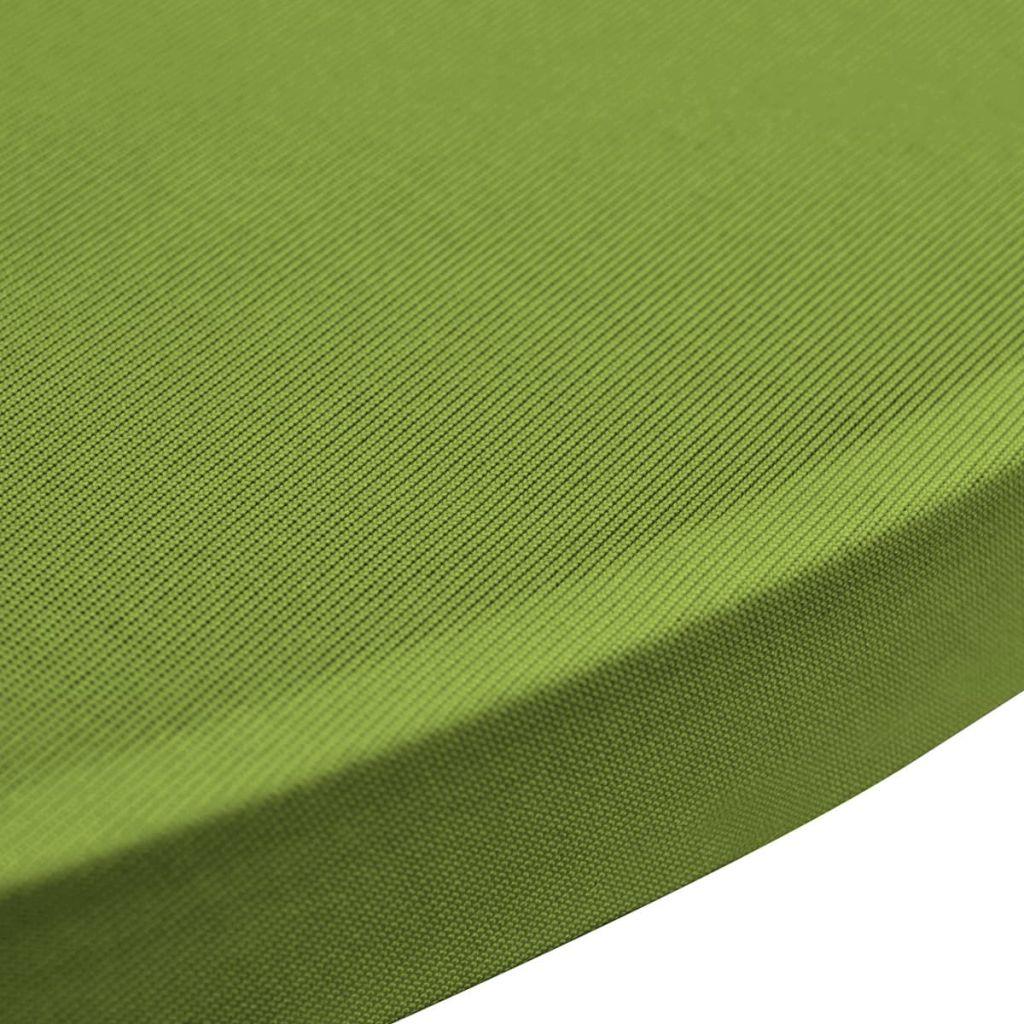 Husă elastică pentru masă, 70 cm, verde, 2 buc.