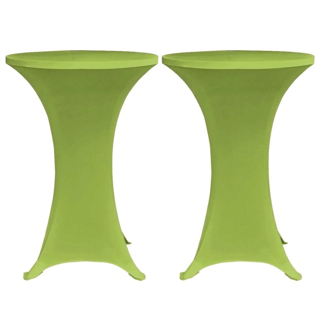Husă elastică pentru masă, 80 cm, verde, 2 buc.