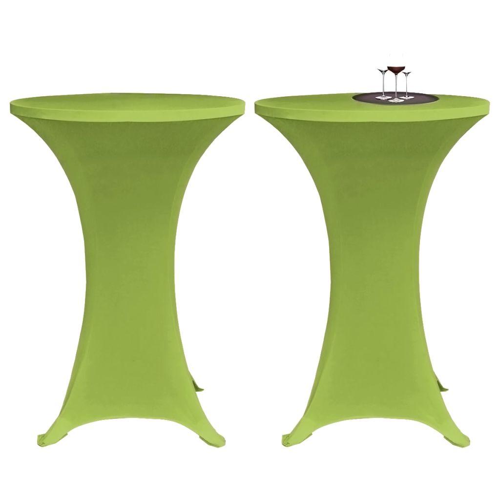 vidaXL Husă elastică pentru masă, 80 cm, verde, 2 buc.