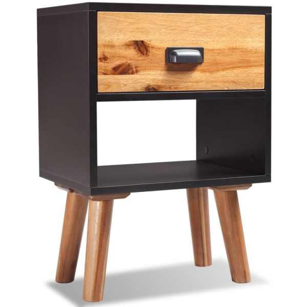 vidaXL Noptieră din lemn dur de salcâm 40 x 30 x 58 cm
