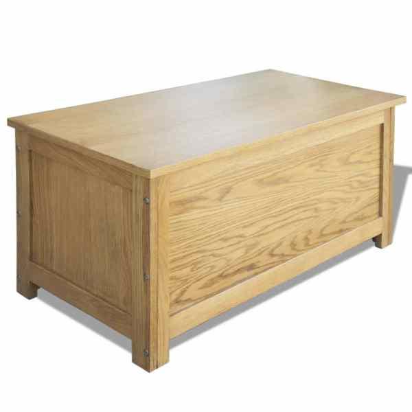 vidaXL Ladă de depozitare, 90 x 45 x 45 cm, lemn masiv de stejar