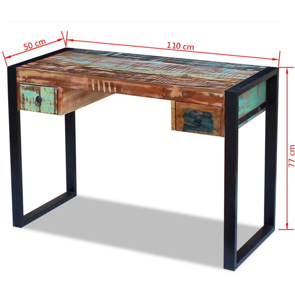 vidaXL Birou din lemn masiv reciclat