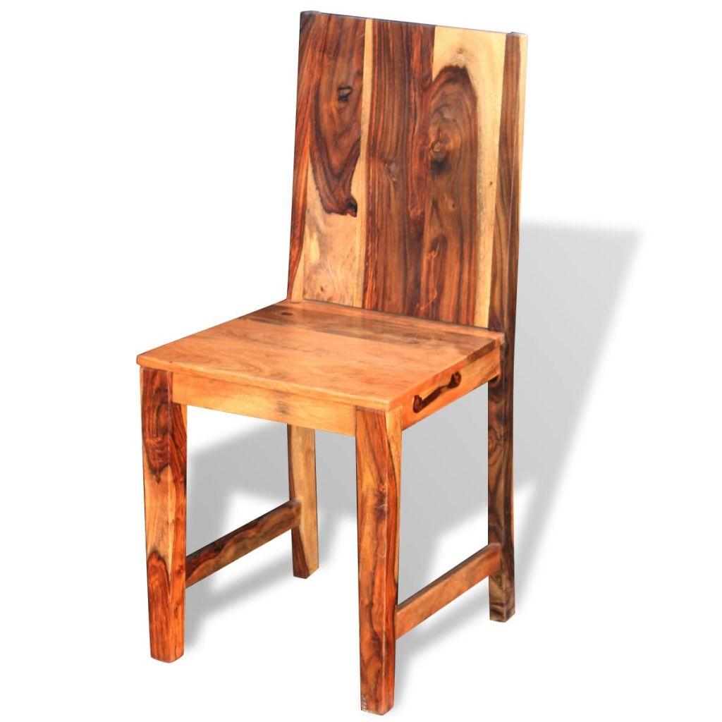 Scaune de bucătărie 2 buc, lemn masiv de sheesham
