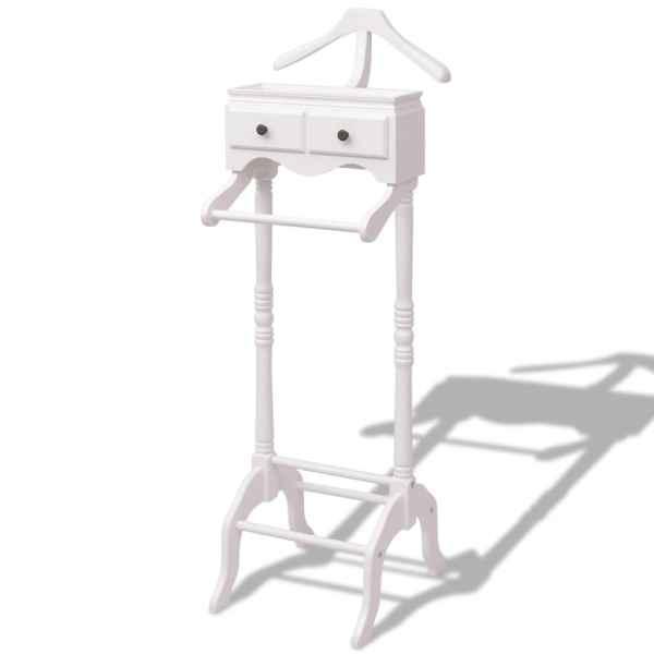 vidaXL Organizator îmbrăcăminte cu dulap din lemn, alb
